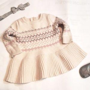 Baby Gap Fair isle Sweater Dress 0-3 Months